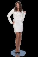 Вязанное платье цвет белый 30% меринос, 70% высокообъёмный акрил, очень...