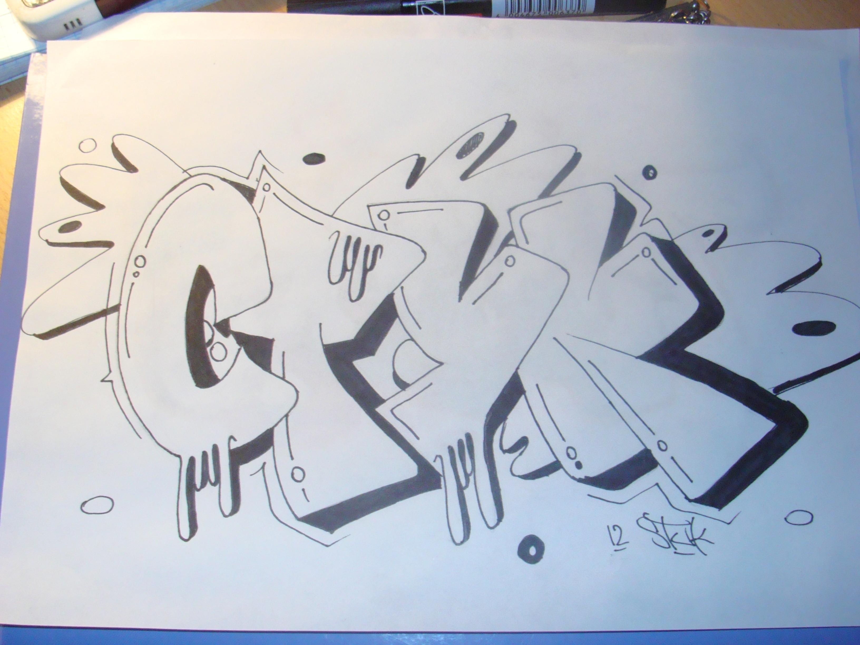 Граффити рисунки новичков