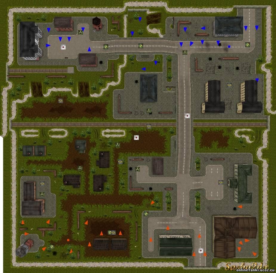 Схемы карт для планировки КВ или других целей.