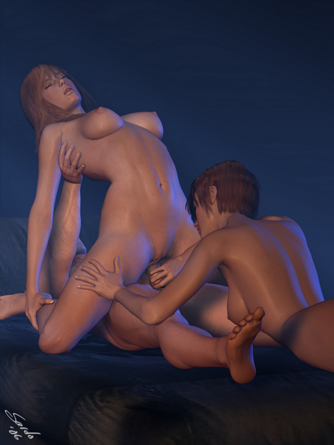 3D cartoons necked pron naked female