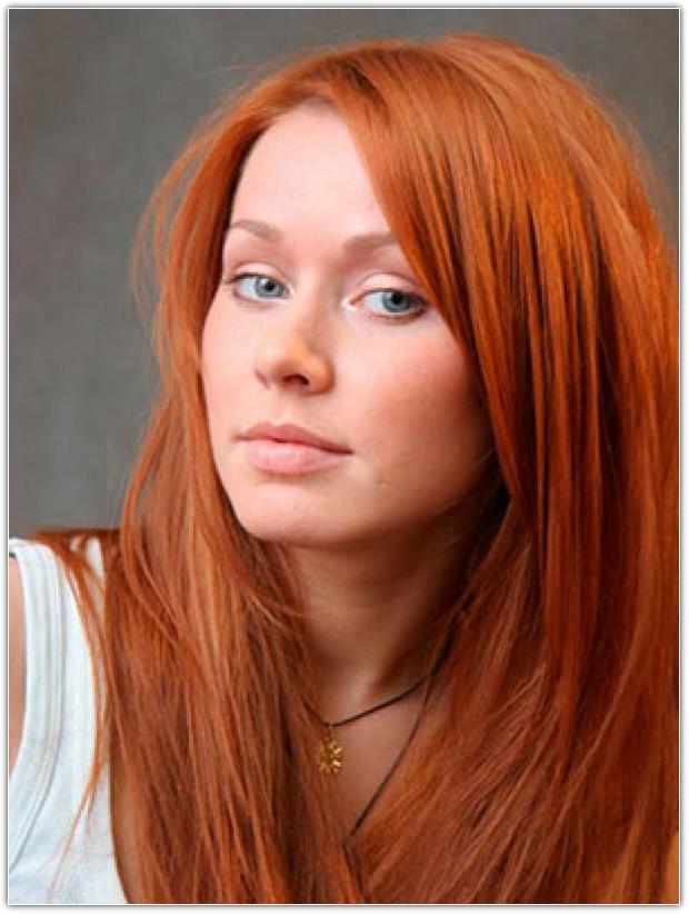 Цвет рыжий волосы