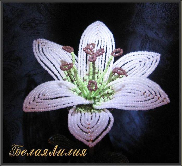 Белая лилия | biser.info - всё