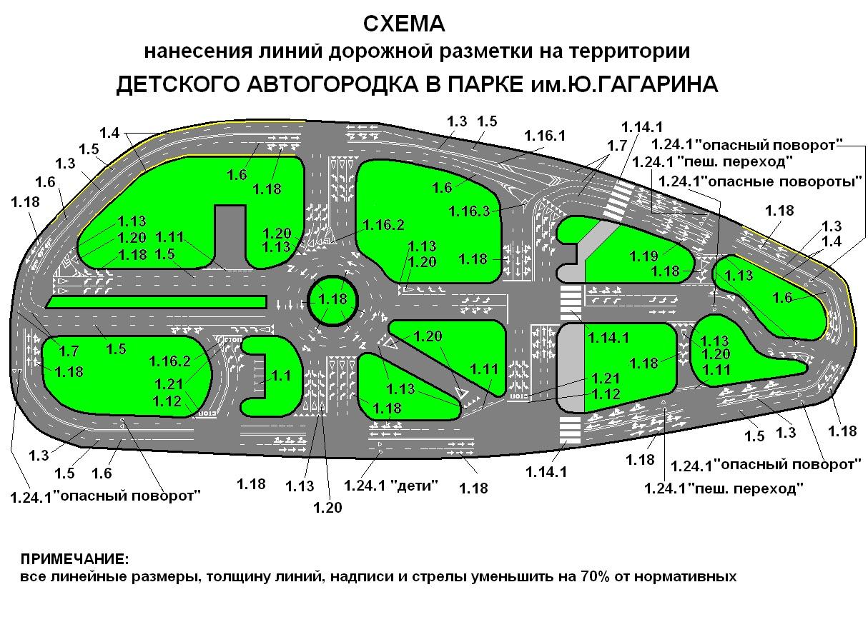 Схема дорожной разметки для школы