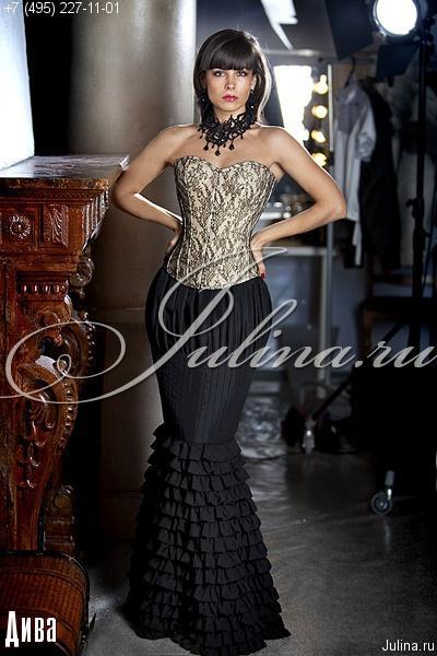 платье корсет с юбкой из фатина