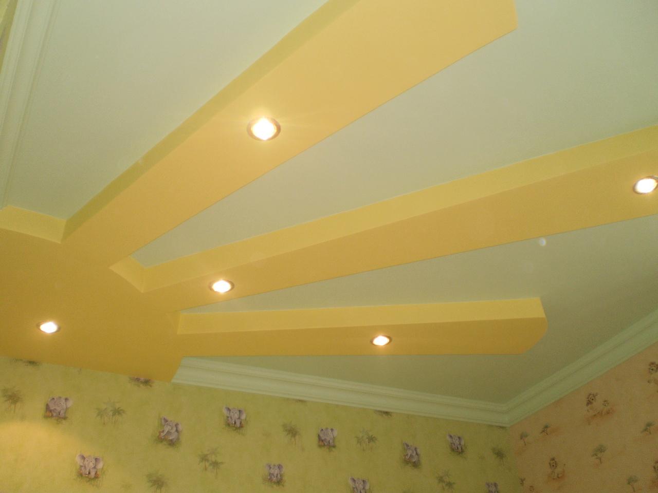 Потолок из гипсокартона для детской своими руками