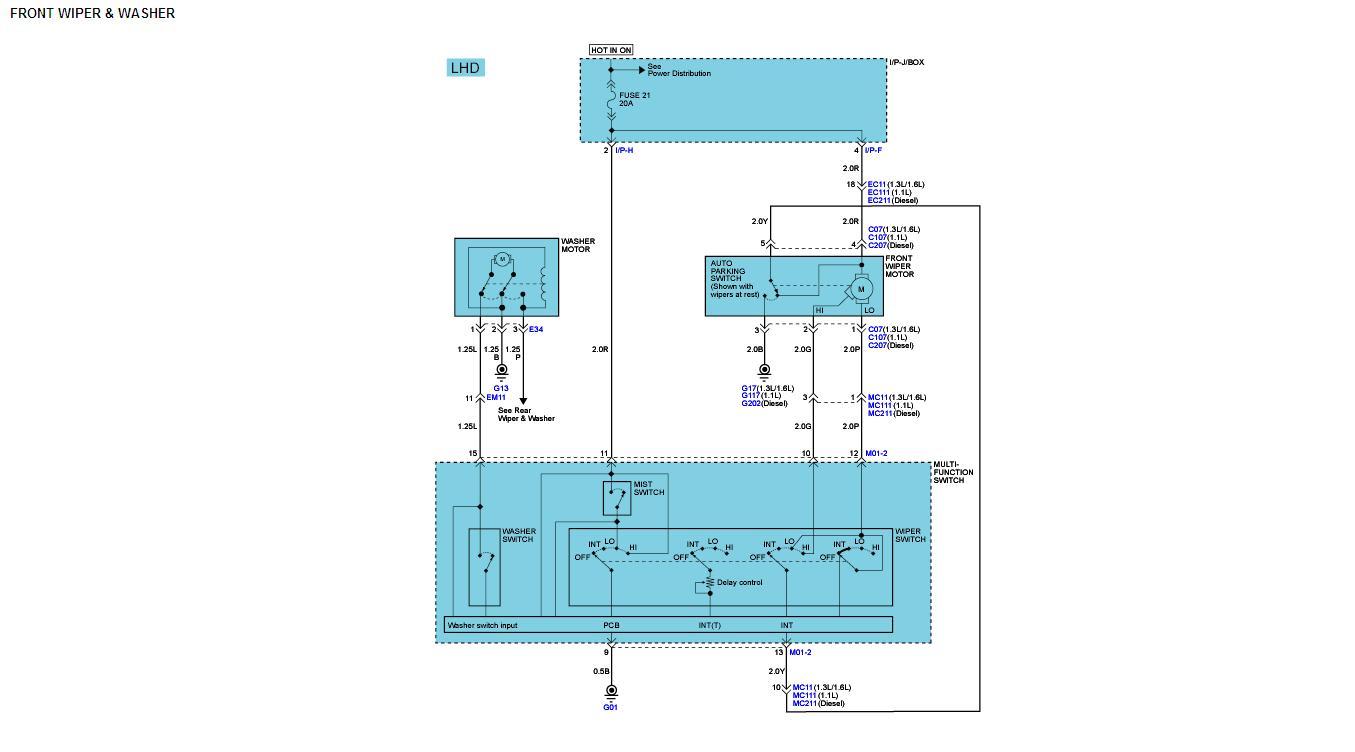 Hyundai getz схема электро