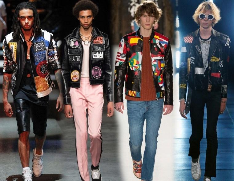 Куртки весна 2016 года: модные тенденции глэм-рок