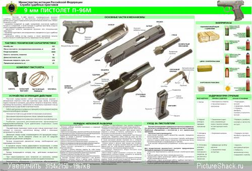 Пистолет 9 мм судебного