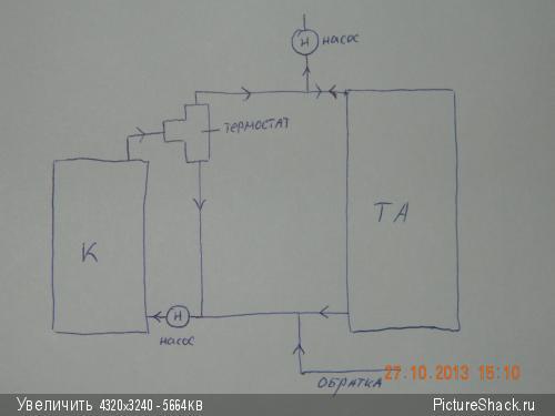 Теплоаккумулятор в системе